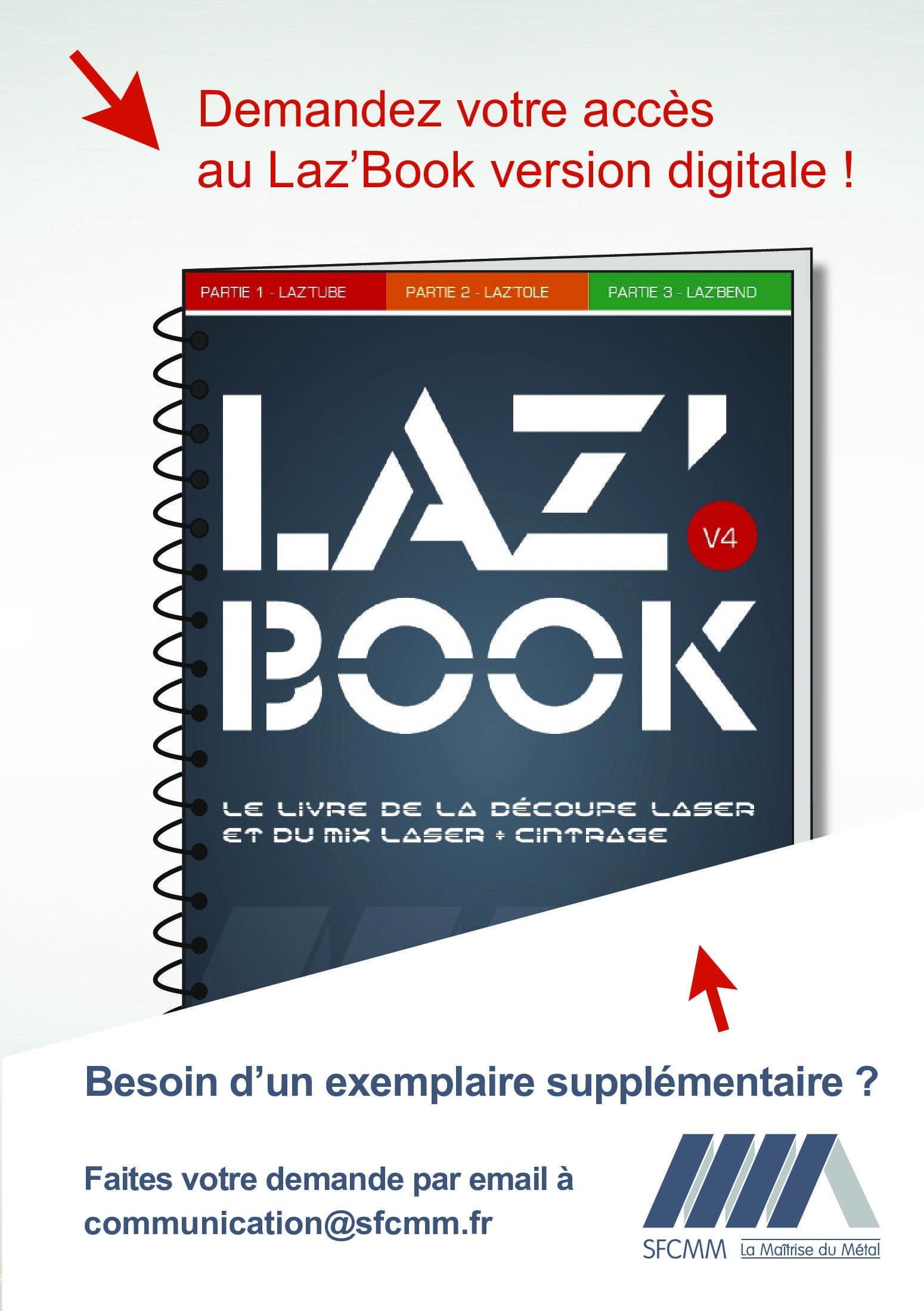 Laz'Book, le livre de la découpe laser et du mix Laser + Cintrage